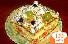 Фото рецепта: «Бисквит с масляным кремом и клубникой»