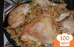 Фото рецепта: «Всегда удачный рис приготовленный под фольгой»