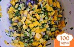 Фото рецепта: «Сальса из манго с огурцом»