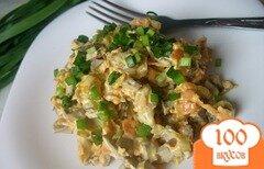 Фото рецепта: «Салат из печени с соленым огурчиком»