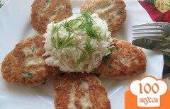 """Фото рецепта: «Котлеты рыбные с отварным яйцом и сыром """"Амур""""»"""