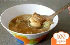 Фото рецепта: «Фасолевый суп с сосисками»
