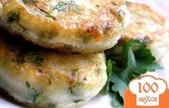 Фото рецепта: «Картофельные котлеты с зеленью»