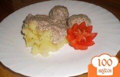 Фото рецепта: «Котлеты с картофелем и грибным соусом»