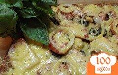 Фото рецепта: «Морская пицца (с креветками и мидиями)»