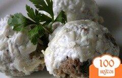 Фото рецепта: «Запеченные тефтели с орегано и мятой»