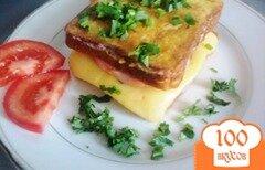 Фото рецепта: «Горячие бутерброды в кляре»