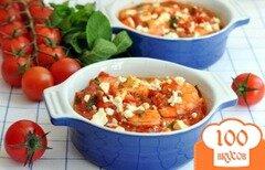 Фото рецепта: «Креветки с сыром и помидорами»