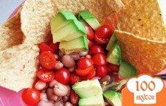Фото рецепта: «Салат с фасолью и авокадо»