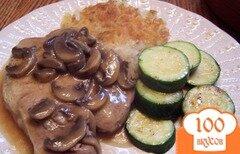 Фото рецепта: «Отбивные в винном соусе с грибами»