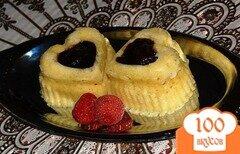 Фото рецепта: «Ванильные кексы с фаршированными финиками»