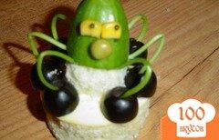 """Фото рецепта: «Украшение к салату """"Золотая рыбка""""»"""
