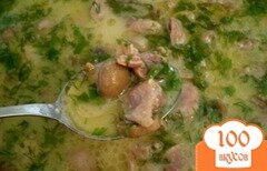 Фото рецепта: «Желудки тушенные с грибами в сметане»