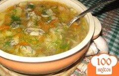 Фото рецепта: «Вегетарианские щи из квашенной капусты с грибами»