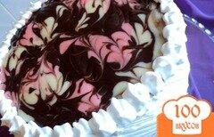 Фото рецепта: «Торт малиново-шоколадный «Фентази»»