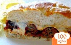 Фото рецепта: «Сэндвич с фрикадельками»