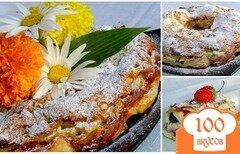 Фото рецепта: «Яблочно-ягодный пирог-десерт с заливкой»