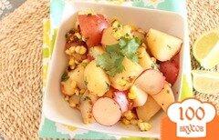Фото рецепта: «Салат из красного картофеля и овощей»