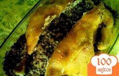 Фото рецепта: «Курица фаршированная гречкой.»