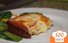Фото рецепта: «Пирог с яблоками из простокваши»