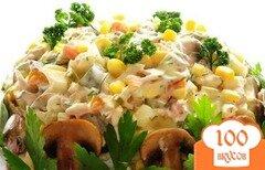 Фото рецепта: «Салат Осенний с курицей и грибами»
