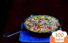 Фото рецепта: «Фриттата с картофелем и ветчиной»