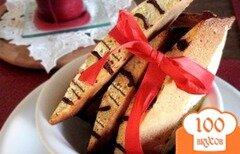 Фото рецепта: «Миндальные бискотти с шоколадом»