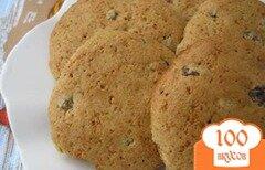 Фото рецепта: «Овсяно-медовое печенье с изюмом»