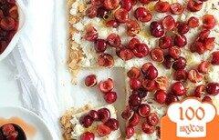 Фото рецепта: «Тарт с вишней и рикоттой»