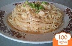 Фото рецепта: «Спагетти с куриным соусом»