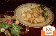 Фото рецепта: «Курица с ананасами»