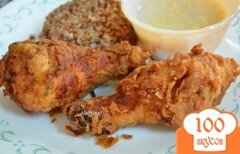 Фото рецепта: «Жареные хрустящие куриные окорочка»