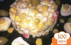 Фото рецепта: «Салат с кукурузой, крабовыми палочками и рисом»