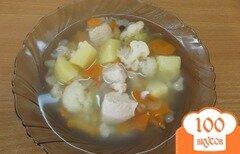 Фото рецепта: «Овощной диетический суп с цветной капустой»