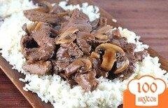 Фото рецепта: «Мясо с грибами в мультиварке»