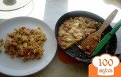 """Фото рецепта: «Овощной """"омлет"""" с сыром»"""