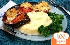 Фото рецепта: «Баклажаны, запеченные с колбасой и сыром»