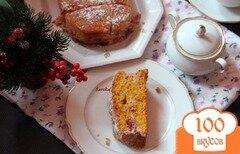 Фото рецепта: «Тыквенный кекс с творожно-брусничной прослойкой»