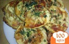 Фото рецепта: «Лепешки с ветчиной и сыром»