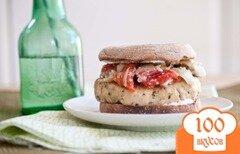 Фото рецепта: «Постный греческий бутерброд с индейкой»