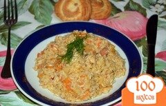 Фото рецепта: «Рис сладкий с беконом и ананасом»