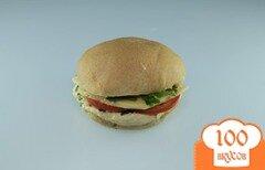 Фото рецепта: «Хумусбургер - вегетарианский гамбургер»