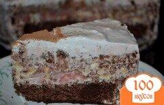 Фото рецепта: «Торт мороженое,шоколадный с маршмэллоу и фундуком»