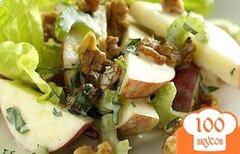 Фото рецепта: «Салат с яблоком и сыром»