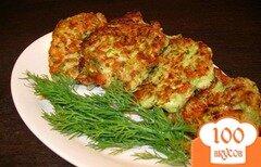 Фото рецепта: «Оладьи из кабачков с сыром и зеленью»