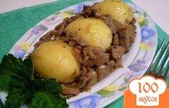 Фото рецепта: «Молодой картофель с грибами»