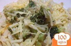 Фото рецепта: «Макароны под соусом из брокколи»