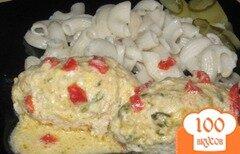 Фото рецепта: «Куриные котлеты с кабачками в сырном соусе»