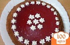 """Фото рецепта: «Торт-желе """"Малина+шоколад""""»"""