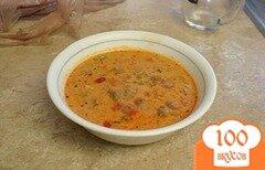 Фото рецепта: «Суп с колбасой и грибами»